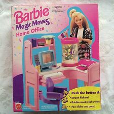 BARBIE MAGIC MOVES HOME OFFICE  FURNITURE 1994 ~Rare~ Still NIB!