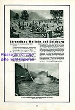 Strandbad Hallein bei Salzburg Reklame 1929 Foto von Sandner Schandalik Meraner