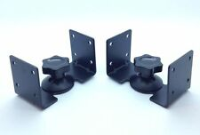 Black Speaker Brackets for HIFI Surround Sound Speakers Steel Metal Wall Ceiling