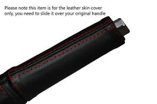 RED STITCH HANDBRAKE HANDLE LEATHER SKIN COVER FITS VW BEETLE 2012-2016