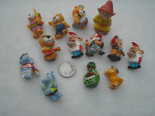 COLLECTABLE DWARFS CATS HIPPOS DUCK TORTOISE 'FERRERO' HARD PLASTIC 13 PIECES