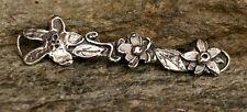 Artisan Sterling Silver Flower Bar for Bracelets, Jewelry Making Supplies