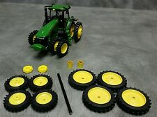 1/64 Farm custom scratch 14.9 R50 tractor kit yellow rims + weights and spacers