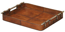 Beautiful Safari Tobaco Leather Tray,19'' x 2''H.