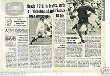 Coupure de presse Clipping 1973 (2 pages) Rugby Cinq Nations France-Ecosse