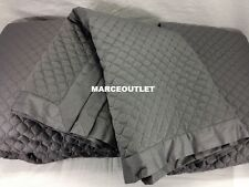 Charter Club Damask Quilted TWIN Coverlet & Standard Sham Set Slate