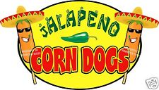 """Jalapeno Corn Dogs Decal 14"""" Hot Dogs Concession Food Truck Cart Restaurant"""