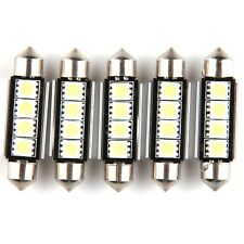 5x White Canbus Error Free Car 42mm LED 4-smd 5050 Wedge Light Bulb W5W 194 168