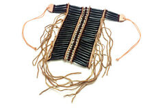 Handmade Native American Style Brown Buffalo Bone Hairpipe Breastplate