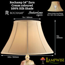 Interiors 1900 Rochamp Zara 14in 360mm Bowed Empire Cream Silk Shade