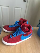 Nike High Tops Red & Blue, Unisex. Size 5.5, Euro 38.5. Gym, Deadlifts, Genuine.