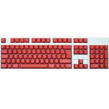 Max Keyboard ISO 105-key Cherry MX Replacement Keycap Set 6.0x (Red / Blank)