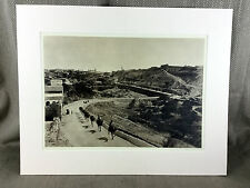 Vintage Print Antique Photograph Road to Bethlehem Israel Jerusalem Jewish Art