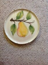 Kitchen Wall Decor Fruit Plate With Pear Made In Italy