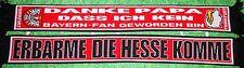 """Frankfurt Schal """".. dass ich kein.."""" Hessen F Adler Main Ultra Fan Kurve +neu+"""