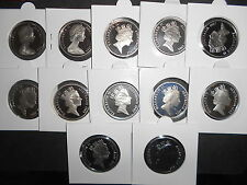 WOW 1983,84,85,86,87,88,89,90,91,92,93,95 20c COIN SET VERY RARE  ( NOT ISSUED )