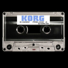 KORG EX-8000 / EX8000 - Factory Preload Programs cassette TAPE