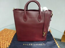 NWT RALPH LAUREN BORDEAUX LEATHER TOTE SHOULDER CROSS BODY BAG $995