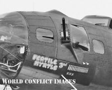USAAF WW2 B-17 Bomber Fertile Myrtle 3rd 8x10 Nose Art Photo 96th BG New Release