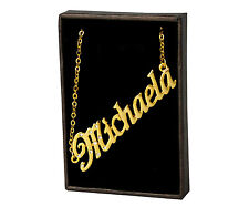 "Name Necklace ""MICHAELA"" - 18ct Yellow Gold Plated - Engagement Gifts Jewellery"