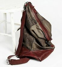 NWT Free People X Old Gringo brown leather khaki snake print suede Backpack Bag