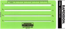 """Berol Rapidesign Template - Lettering Aid 1/16"""" 3/32"""" 1/8"""" 5/32"""" - R-926"""