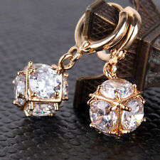 Awesome Swarovski Crystal dangle earring! 18K gold filled lady bling earring