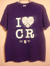 I LOVE HEART CR PURPLE T SHIRT SHEFFIELD VODKA KICK BRUGAL JIM BEAM SIZE XL VGC