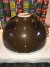 RETRO MID CENTURY MODERN 1960s 1970s HANGING SWAG DOME LAMP ACRYLIC/LUCITE LIGHT