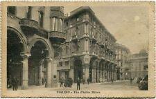 1900 Torino - Vista della Via Pietro Micca, passanti bici- FP B/N ANIM