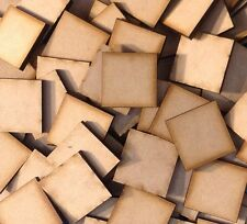 20x 25mm Square MDF Wooden Bases Laser Cut Crafts FAST SHIPPING US SELLER