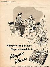 1952 Player's NAVY CUT CIGARETTES Quarter Page Vintage / Retro Magazine  Advert