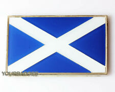 Chrome Enamel SCOTLAND Flag Car Badge Scottish Saltire Saint Andrews Cross