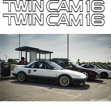 TOYOTA MR2 AE82 4AGE TWIN CAM 16 stickers autocollants graphiques de remplacement corolle