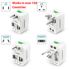 US to EU Europe Universal Travel Adapter Charger Converter AC Power Plug Socket
