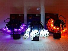 Halloween Mini LED Lights Battery Operated Bat Pumpkin Skeleton Decorations New