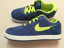 New Nike P-Rod Paul Rodriguez Blue/lime suede skate SB size- 5.5