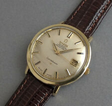 OMEGA CONSTELLATION 14K GOLD SHELL Gents Vintage Automatic Calendar Watch 1966