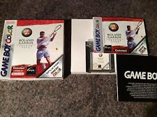 Roland Garros French Open Tennis Gameboy Color Game! Look At My Other Games!
