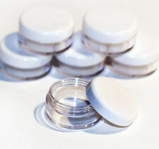 3 x 5ml **BEST QUALITY** CLEAR PLASTIC SAMPLE JARS/POTS Glitter/Cosmetic jdw-3