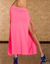 4616-1 Maxi-Rock Stretch-Stoff skirt Gr. S/M 34 36 Neon-Rosa