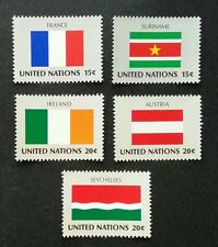 United Nation Flag Austria Seychelles France Ireland Suriname (stamp) MNH 7