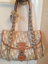 GENUINE DIOR BEIGE HEART LOCK  HAND BAG AND MATCHING PURSE