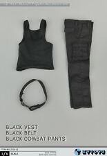 ZY Toys 16-12 1/6 Scale Set of Black Tank Top + Tactical Pants + Belt
