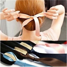 4Pcs Magic Ribbon Twist Hair Bun Maker Clip Foam Donut Dupdo Styling Curler Tool