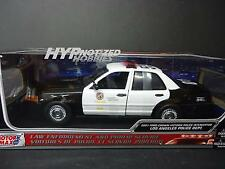 MOTORMAX 1:18 FORD CROWN VICTORIA LAPD BLACK & WHITE DIECAST 73539