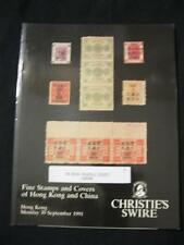 CHRISTIE'S SWIRE AUCTION CATALOGUE 1991 HONG KONG AND CHINA
