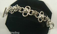Sterling Silver Four Link Bracelet toggle clasp