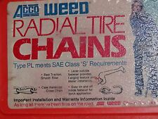 TIRE CHAINS WEED #1138,  P235/60R15, 205/65-16, P205/65R16, 205/70-16