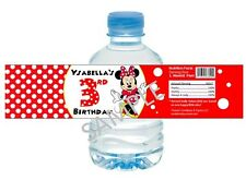 Minnie Mouse in Red Dress Water Bottle Wrappers - Birthday Favors - Set of 12